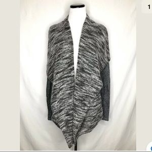 Lucky Brand Open Front Cardigan Sweater Gray